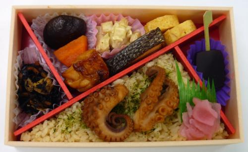 たこ飯と味わい弁当中身写真 - コピー